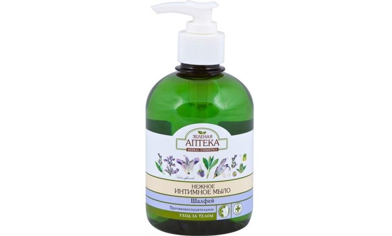 Зеленая-аптека-«Нежное-интимное-мыло-Шалфей»